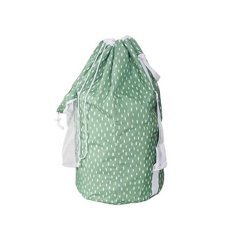 Backpk Laundry Bag Pebble Dot Green - Room Essentials™ - image 1 of 3