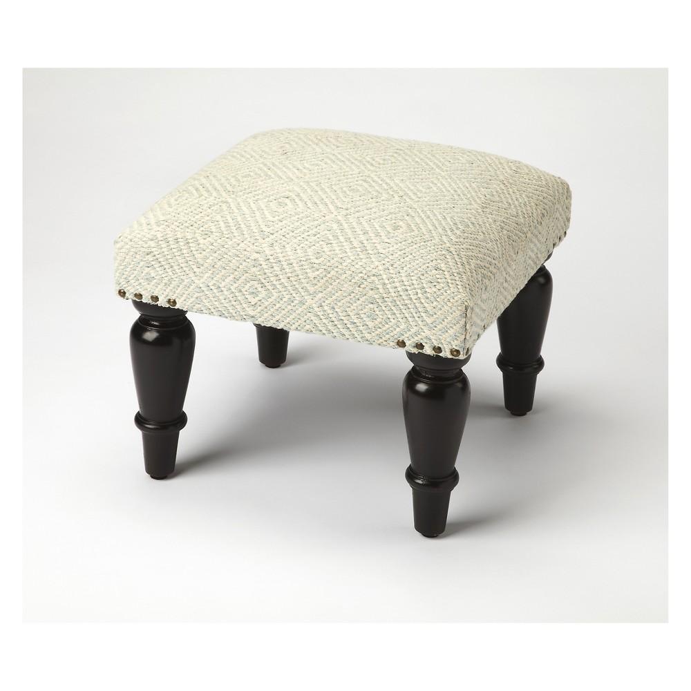 Butler Specialty Samina Ivory Upholstered Stool Black
