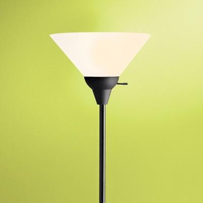Torchiere Floor Lamp Black (Lamp Only) - Room Essentials