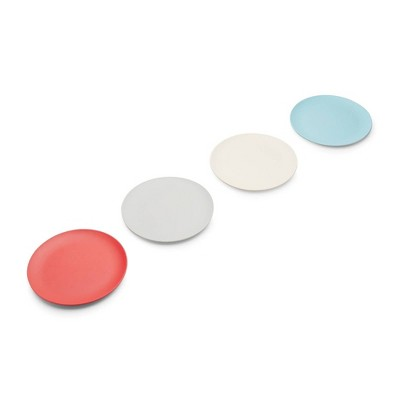 "Red Rover 7.8"" 4pk Bamboo Fiber Kids Plates"