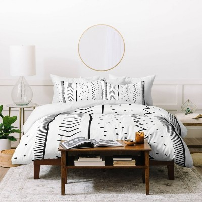 Twin/Twin XL Becky Bailey Moroccan Stripe Duvet Set Black/White - Deny Designs