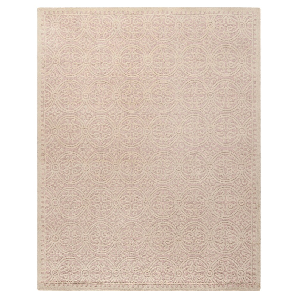 Pink/Ivory Color Block Tufted Area Rug 9'X12' - Safavieh