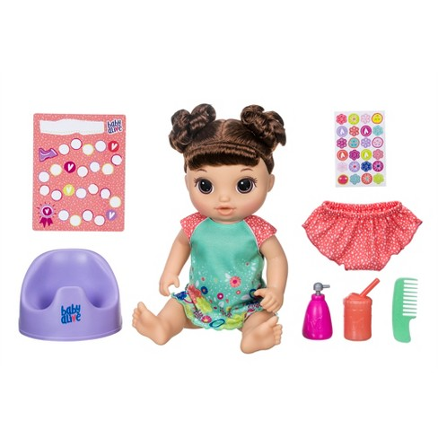 Baby Alive Potty Dance Baby Doll - Brown Curly Hair - image 1 of 8