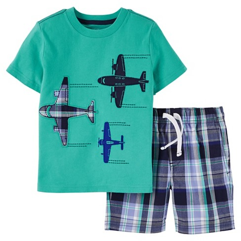 c1eae9cc6 Toddler Boys' 2pc Shorts Set - Just One You™ Made By Carter's® Teal/Blue 7  : Target