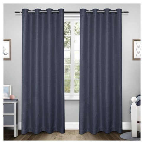 Tweed Blackout Curtain Panel Set - Exclusive Home - image 1 of 4