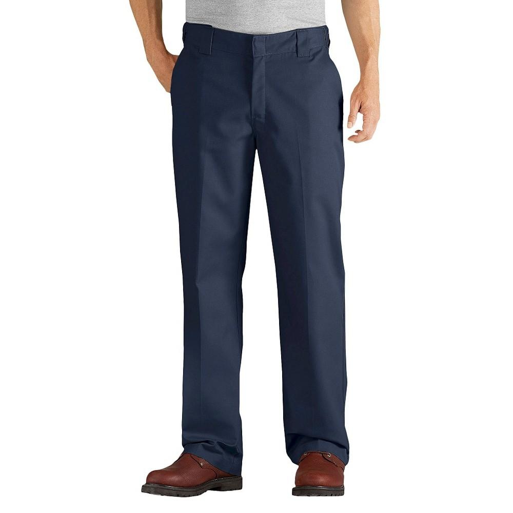 Dickies Men's Relaxed Straight Fit Comfort Waist Flex Twill Pants- Dark Navy 30x32