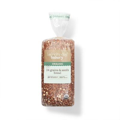 Organic 24 Grains & Seeds Bread - 20oz - Favorite Day™