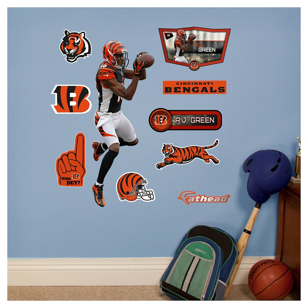 NFL Cincinnati Bengals A.J. Green Fathead Wall Decal Set