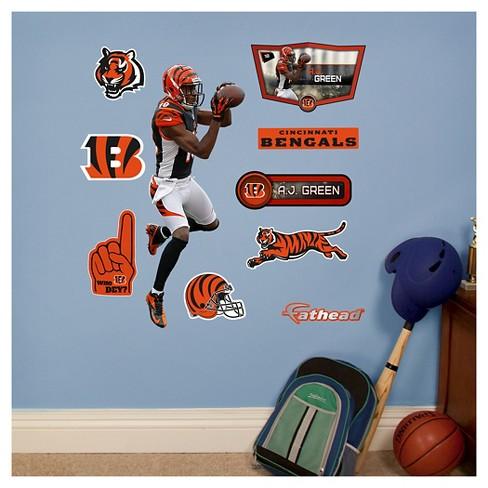 cd7401e2 NFL Cincinnati Bengals A.J. Green Fathead Wall Decal Set