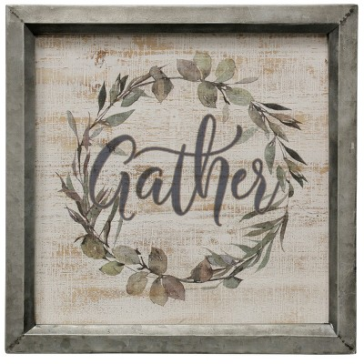 "15.75"" Gather Wreath Decorative Wall Art - StyleCraft"