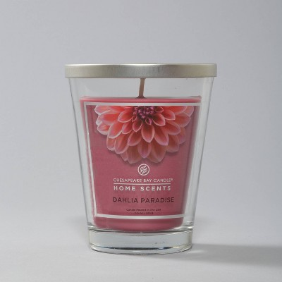 11.5oz Glass Jar Dahlia Paradise Candle - Home Scents By Chesapeake Bay Candle