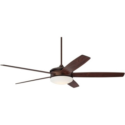 "70"" Casa Vieja Modern Ceiling Fan with Light LED Dimmable Remote Control Oil Brushed Bronze for Living Room Kitchen Bedroom"