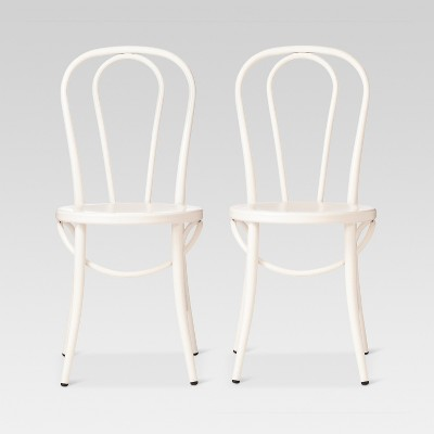 Emery Metal Bistro Chair - Off White (Set of 2)- Threshold™