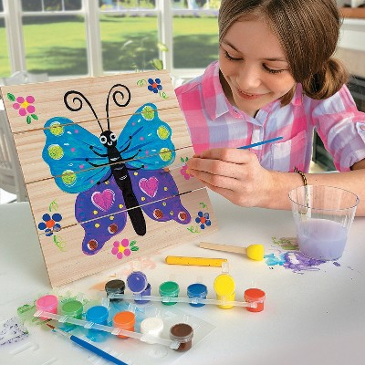 MindWare Paint Your Own Wood Pallet Sign - Creative Activities - 18 Pieces