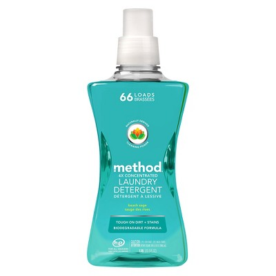 Method Beach Sage 4x Concentrated Laundry Detergent 53.5 oz
