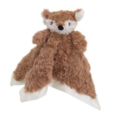 Cuddle Me Cuddle Plush Security Blanket - Brown/Ivory Fox