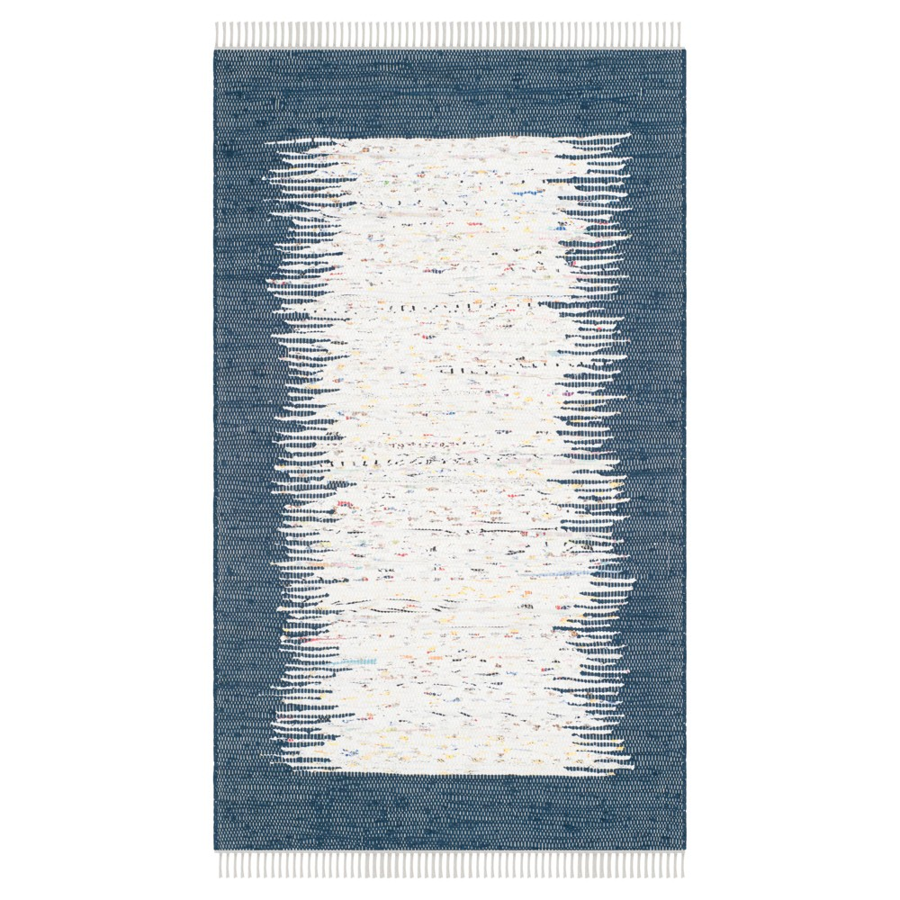 Bettina Flatweave Accent Rug - Ivory / Navy (Blue) (3' X 5') - Safavieh