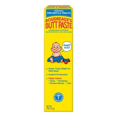 Original Boudreaux's Butt Paste Diaper Rash Ointment Tube - 4oz