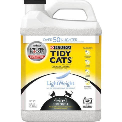 Purina Tidy Cats Clumping Lightweight 4-in-1 Strength Plastic Jug Cat Litter - 8.5lbs - image 1 of 4