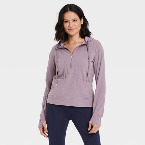 Women's Microfleece Pullover Sweatshirt - All in Motion™ - image 1 of 4