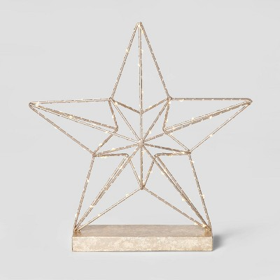 Dew Drop Wrapped Star Decorative Figurine Champagne - Wondershop™
