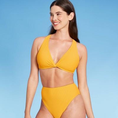 Women's Plunge Twist-Front Bikini Top - Shade & Shore™