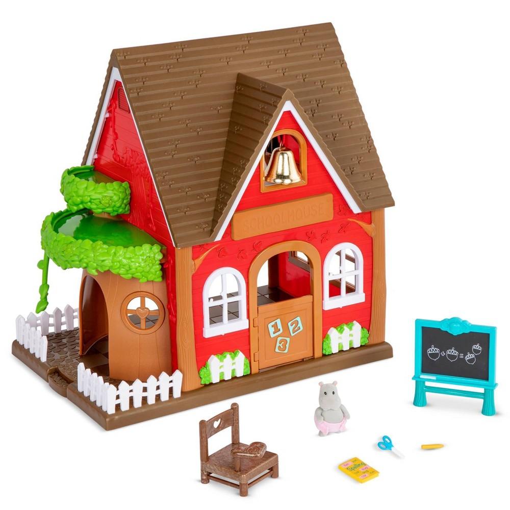Li 39 L Woodzeez Toy School With Miniature Figurine 8pc Woodland Schoolhouse Playset