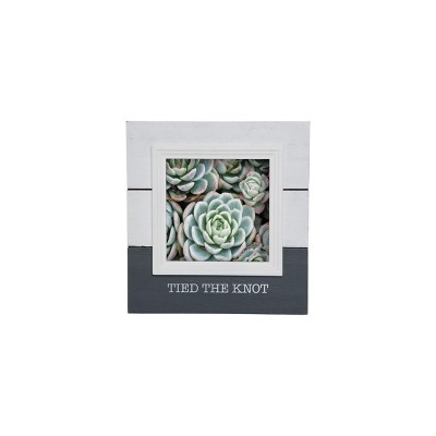 Foreside Home & Garden White and Gray Sentiment Decorative Wood Picture Frame