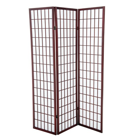 Room Divider 3 Panel Wood Cherry - Home Source Industries - image 1 of 1