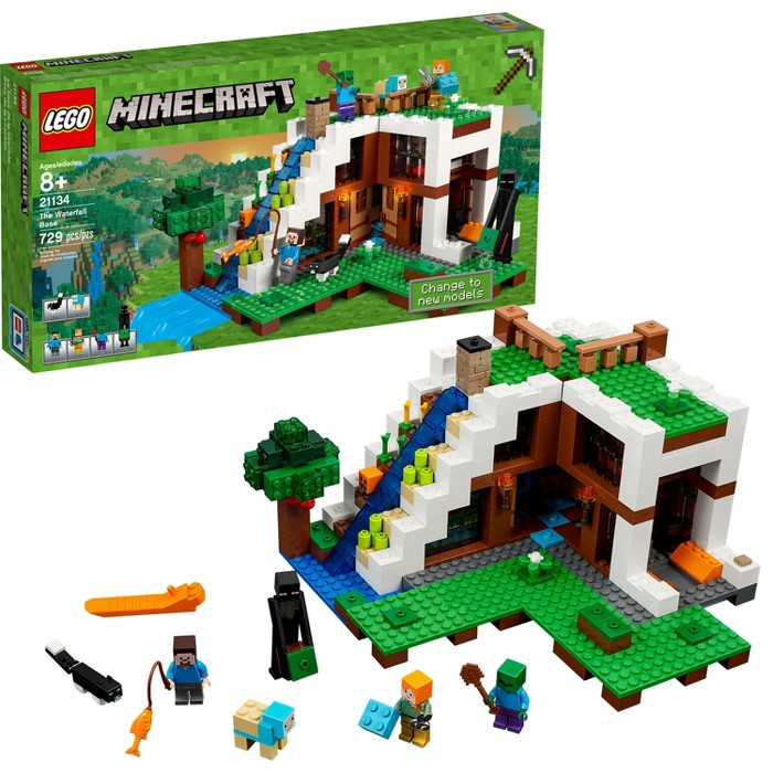 LEGO® Minecraft The Waterfall Base 21134 - image 1 of 18