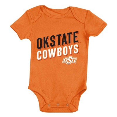NCAA Oklahoma State Cowboys Baby Boys' 3pk Bodysuit Set - 6-9M