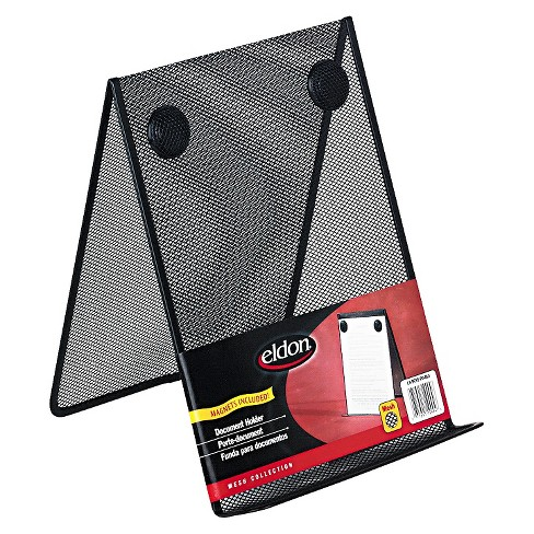 Rolodex™ Nestable Wire Mesh Freestanding Desktop Copyholder, Stainless Steel, Black - image 1 of 1