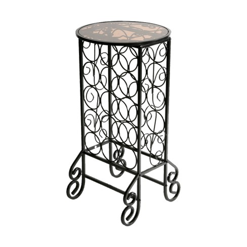 Glass Top Wine Table - Iron - Aiden Lane - image 1 of 4