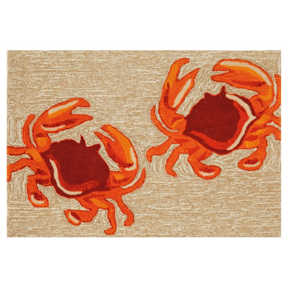 Frontporch Indoor/Outdoor Crabs Natural Rug 30