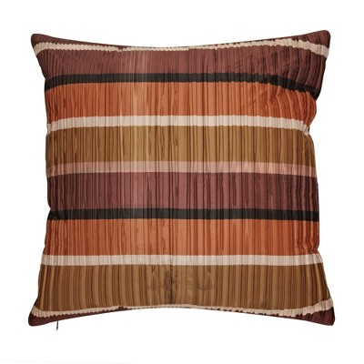 Jazzy Stripes Satin Square Throw Pillow Dark Red - Edie @ Home