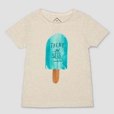 Toddler Boys' Well Worn Treat Yo Self Short Sleeve T-Shirt - Drab 12 M
