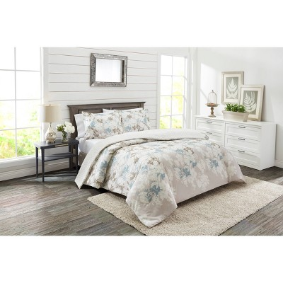 Marble Hill King 3pc Garden Party Reversible Comforter & Sham Set Blue