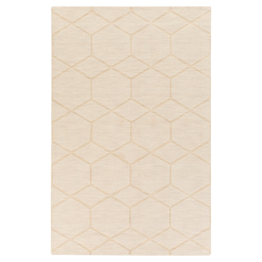 Khaki (Green) Abstract Loomed Accent Rug - (3'3