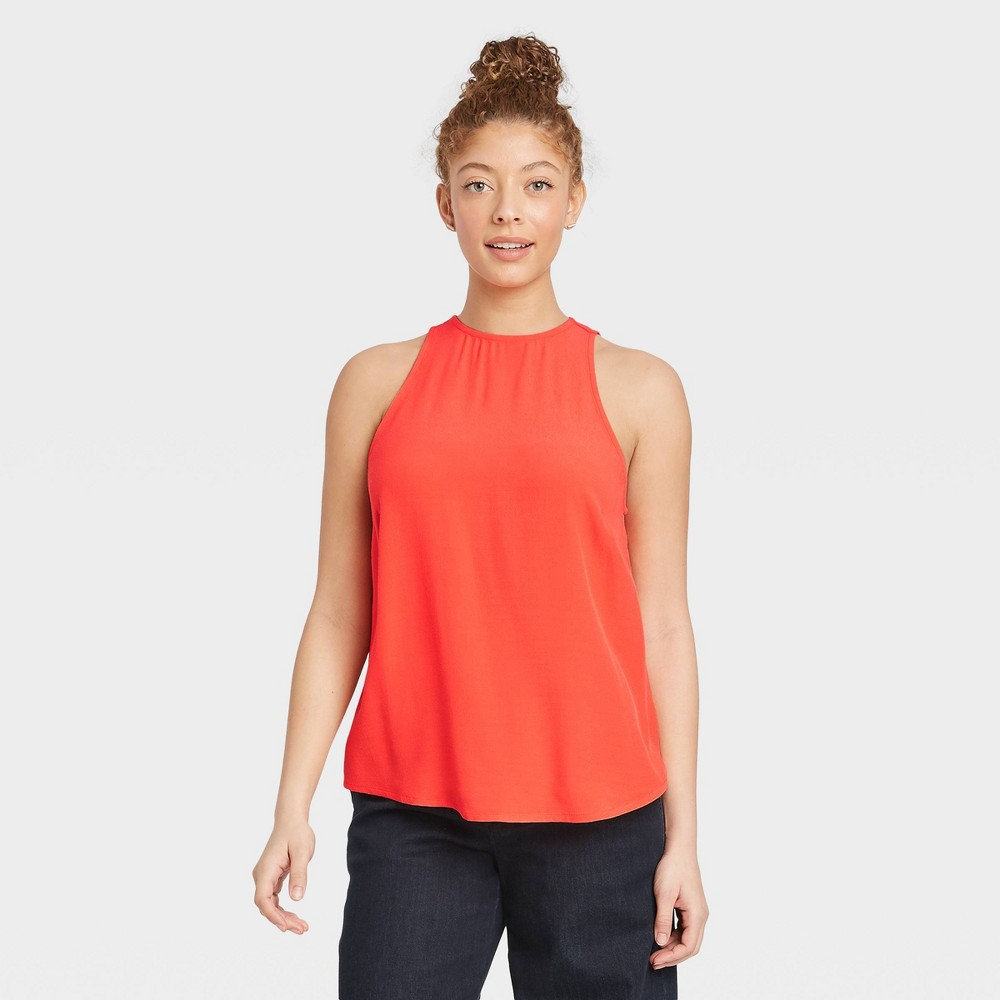 Women 39 S Racer Back Tank Top A New Day 8482 Coral L