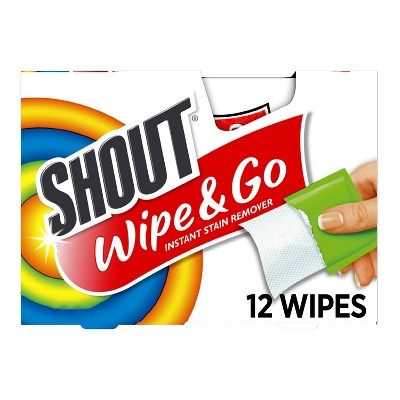 Shout Wipe & Go Instant Stain Remover - 12ct