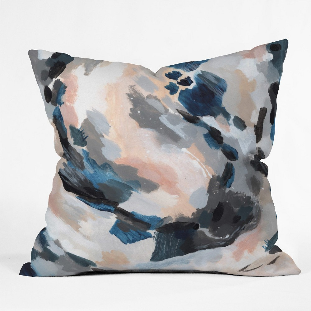 Laura Fedorowicz Abstract Square Throw Pillow Blue - Deny Designs