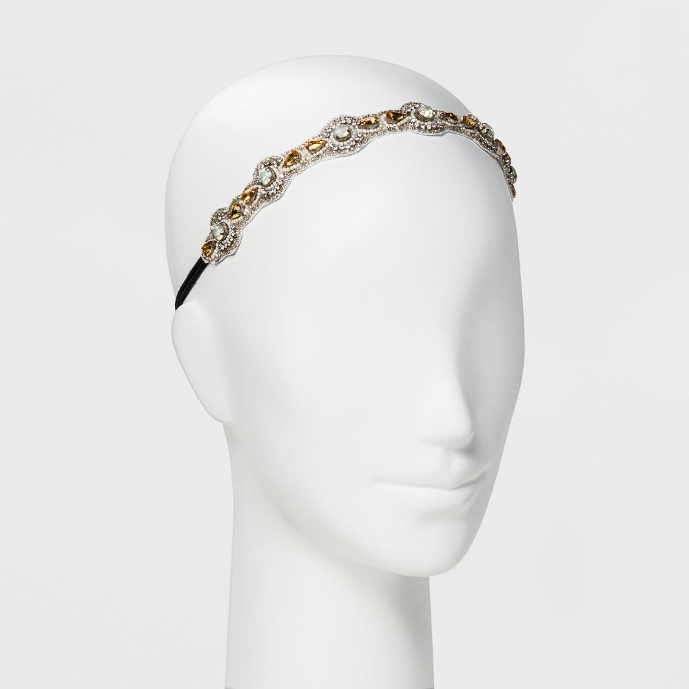 Image of Pink Pewter Headband - Gold