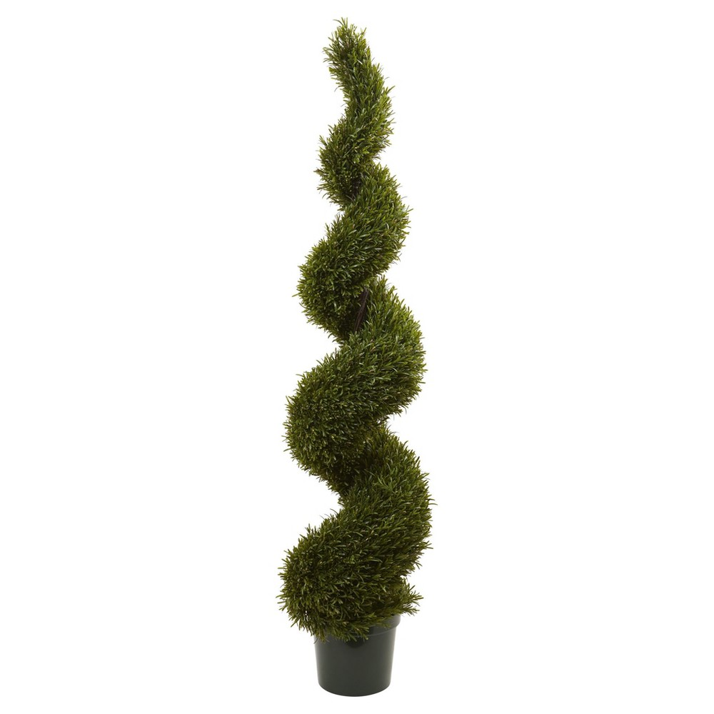 Image of Artificial 6ft Rosemary Spiral Tree Indoor/Outdoor - Nearly Natural