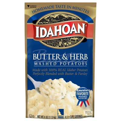 Idahoan Butter & Herb Mashed Potatoes 4oz