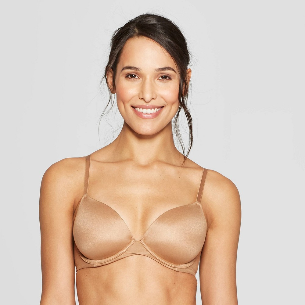 Women's Full Coverage Icon Lightly Lined T-Shirt Bra - Auden Caramel 32AA