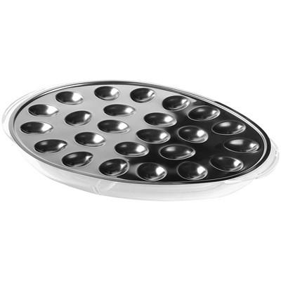Prodyne Iced Deviled Egg Tray Silver