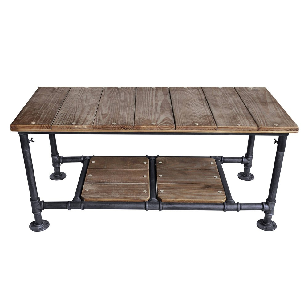 Image of Alamein Industrial Coffee Table Pine - Modern Home