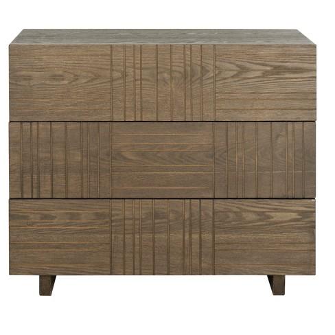 Mitch Storage Cabinet - Brown - Safavieh - image 1 of 3