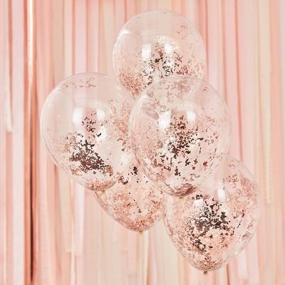 Foil Confetti Filled Balloons Bronze