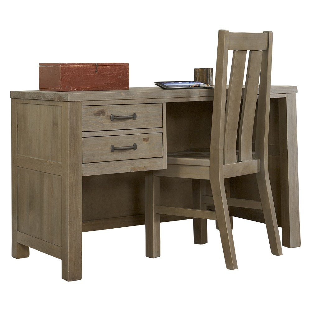 Highlands Desk with Chair Driftwood (Brown) - Hillsdale Furniture
